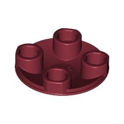 Platte 2x2 rund, abgerundeter Boden, dunkelrot