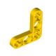 Lochbalken 3 x 3 schmal, L-Form, gelb