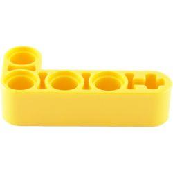 Lochbalken 2 x 4 dick, L-Form, gelb