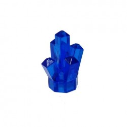 Kristall, transparent dunkelblau