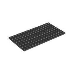 Platte 8x16, schwarz