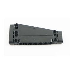 Paneele 5 x 11 x 1 schräg, mit 5 Pinlöchern, schwarz
