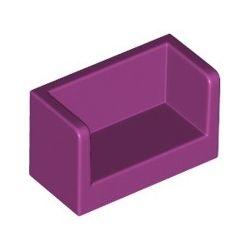 Paneele mit Seitenwänden 1x2x1, magenta