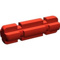 Achse 2 mit Rillen, rot