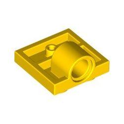 Platte 2x2 mit Pinloch, gelb