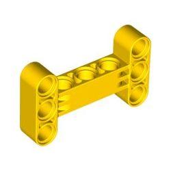 Lochbalken 3x5 dick, H-Form, gelb