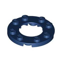 Platte 4x4 rund mit Ausschnitt 2x2 rund, dunkelblau