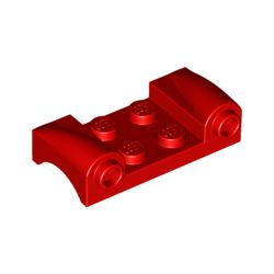 Platte 2x2 mit Kotflügeln und Frontlicht, rot
