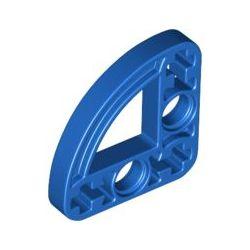 Lochbalken 3x3 schmal, Bogen, blau