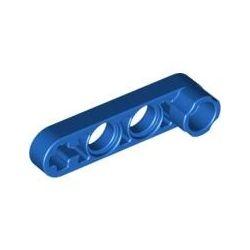 Lochbalken 1 x 4 schmal mit Achsenloch dick, blau