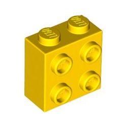 Stein 1x2x2 mit 4 seitlichen Noppen, gelb