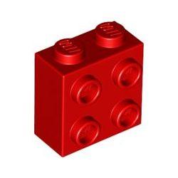 Stein 1x2x2 mit 4 seitlichen Noppen, rot