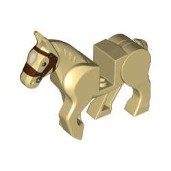 Pferd, beige