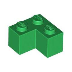 Stein 2x2 Winkel / Ecke, grün
