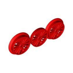 Räder für Lokomotive (dreiteilig), rot