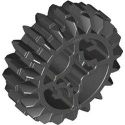 Zahnrad, mittel, 20 Zaehne, beidseitig abgeschraegt schwarz
